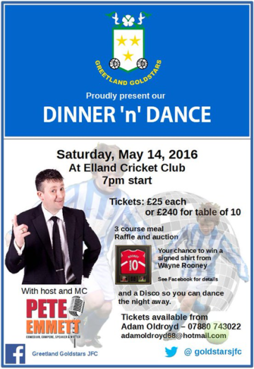 Greetland Goldstars - Dinner and Dance