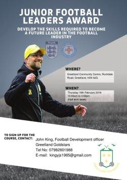 junior football leaders award