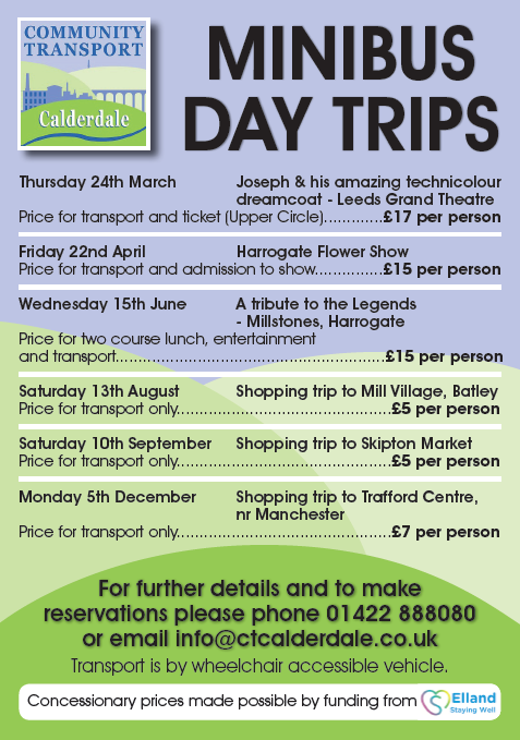 CT Calderdale Minibus Day Trips