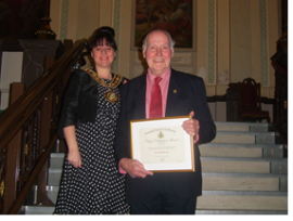 Joe Braithwaite and Mayor Lisa Lambert