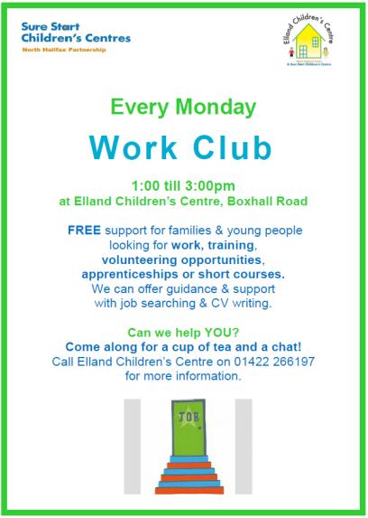 Elland CC Work Club Poster