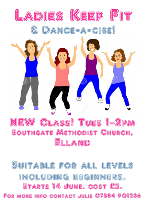 Ladies keep fit - Elland Poster
