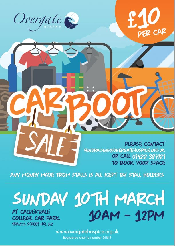 Car Boot Sale in Aid of Overgate Hospice | Halifax Central