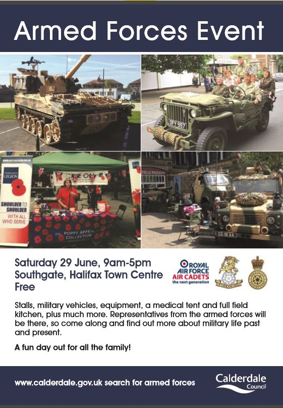 Armed Forces Event in Halifax Town Centre « Calderdale Lower