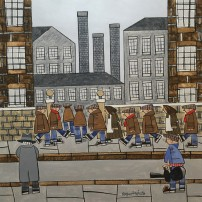 Roger Davies - Watching LS Lowry Sketching The Workers At The Mill In 1930 (In My Dreams)